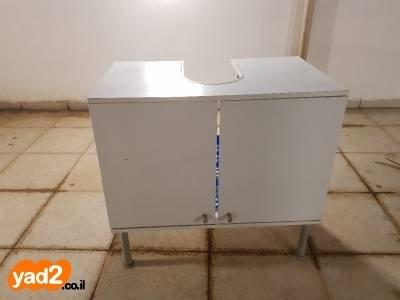 מפוארת ארון אמבטיה לבן מתחת לכיור מתאים ריהוט ארונות 2 דלתות יד שניה - ad WG-93