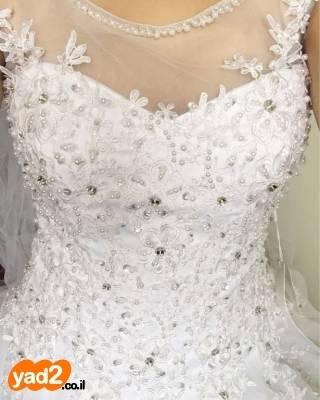 להפליא שמלת כלה מהממת ונסיכתית למכירה! ביגוד ואביזרים שמלות יד שניה - ad ZY-25