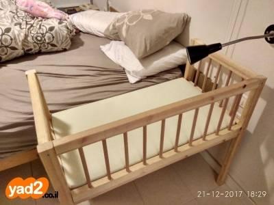 מגניב עריסת תינוק מתחברת למיטה (מיטונת, לתינוק ולילד מיטות ולולים יד RR-31