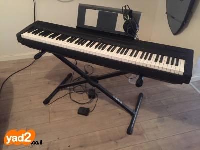 שונות yamaha p45 פסנתר חשמלי +שנאי +ממעד כלי נגינה יד שניה - ad HO-78